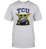 Baby Yoda Hug TCU Horned Frogs The Mandalorian T-Shirt