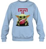 Baby Yoda Hug Temple Owls The Mandalorian Sweatshirt