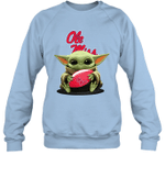 Baby Yoda Hug Ole Miss Rebels The Mandalorian Sweatshirt