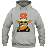 Baby Yoda Hug Syracuse Orange The Mandalorian Hoodie