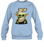 Baby Yoda Hug Purdue Boilermakers The Mandalorian Sweatshirt