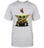 Baby Yoda Hug Wyoming Cowboys The Mandalorian T-Shirt