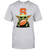 Baby Yoda Hug Syracuse Orange The Mandalorian T-Shirt