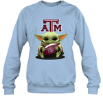 Baby Yoda Hug Texas A_M Aggies The Mandalorian Sweatshirt