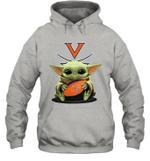 Baby Yoda Hug Virginia Cavaliers The Mandalorian Hoodie