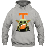 Baby Yoda Hug Tennessee Volunteers The Mandalorian Hoodie