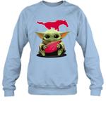 Baby Yoda Hug SMU Mustangs The Mandalorian Sweatshirt