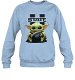 Baby Yoda Hug Utah State Aggies The Mandalorian Sweatshirt