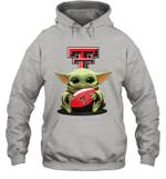 Baby Yoda Hug Texas Tech Red Raiders The Mandalorian Hoodie