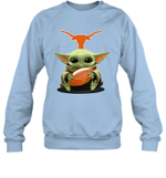 Baby Yoda Hug Texas Longhorns The Mandalorian Sweatshirt