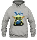 Baby Yoda Hug UCLA University of California Los Angeles The Mandalorian Hoodie