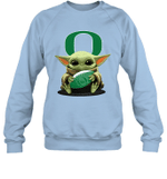 Baby Yoda Hug Oregon Ducks The Mandalorian Sweatshirt