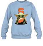 Baby Yoda Hug Syracuse Orange The Mandalorian Sweatshirt