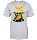 Baby Yoda Hug West Virginia Mountaineers The Mandalorian T-Shirt
