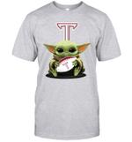 Baby Yoda Hug Troy Trojans The Mandalorian T-Shirt