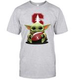 Baby Yoda Hug Stanford Cardinal The Mandalorian T-Shirt