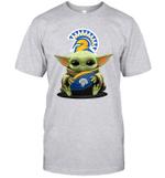 Baby Yoda Hug San Jose State Spartans The Mandalorian T-Shirt