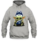 Baby Yoda Hug Uconn Huskies The Mandalorian Hoodie