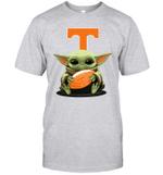 Baby Yoda Hug Tennessee Volunteers The Mandalorian T-Shirt
