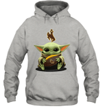 Baby Yoda Hug Wyoming Cowboys The Mandalorian Hoodie