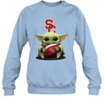 Baby Yoda Hug USC Trojans The Mandalorian Sweatshirt