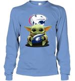 Baby Yoda Hug South Alabama Jaguars The Mandalorian Long Sleeve T-Shirt