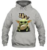 Baby Yoda Hug UCF Knights The Mandalorian Hoodie
