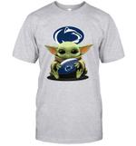 Baby Yoda Hug Penn State Nittany Lions The Mandalorian T-Shirt