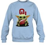 Baby Yoda Hug Oklahoma Sooners The Mandalorian Sweatshirt