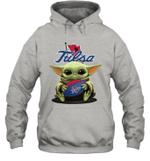 Baby Yoda Hug Tulsa The Mandalorian Hoodie