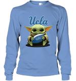 Baby Yoda Hug UCLA University of California Los Angeles The Mandalorian Long Sleeve T-Shirt