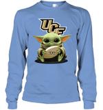 Baby Yoda Hug UCF Knights The Mandalorian Long Sleeve T-Shirt