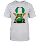 Baby Yoda Hug Oregon Ducks The Mandalorian T-Shirt
