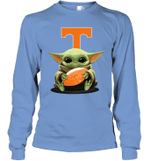 Baby Yoda Hug Tennessee Volunteers The Mandalorian Long Sleeve T-Shirt