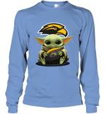 Baby Yoda Hug Southern Miss Golden Eagles The Mandalorian Long Sleeve T-Shirt