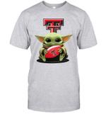 Baby Yoda Hug Texas Tech Red Raiders The Mandalorian T-Shirt