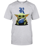 Baby Yoda Hug Rice Owls The Mandalorian T-Shirt
