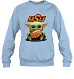 Baby Yoda Hug Oklahoma State Cowboys The Mandalorian Sweatshirt