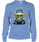 Baby Yoda Hug Old Dominion Monarchs The Mandalorian Long Sleeve T-Shirt