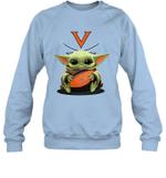 Baby Yoda Hug Virginia Cavaliers The Mandalorian Sweatshirt