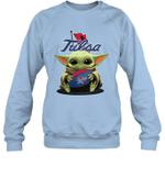 Baby Yoda Hug Tulsa The Mandalorian Sweatshirt