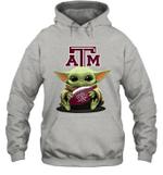 Baby Yoda Hug Texas A_M Aggies The Mandalorian Hoodie