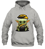 Baby Yoda Hug Southern Miss Golden Eagles The Mandalorian Hoodie