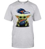 Baby Yoda Hug UTSA Roadrunners The Mandalorian T-Shirt