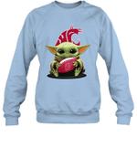 Baby Yoda Hug Washington State Cougars The Mandalorian Sweatshirt
