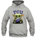 Baby Yoda Hug TCU Horned Frogs The Mandalorian Hoodie