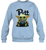 Baby Yoda Hug Pittsburgh Panthers The Mandalorian Sweatshirt
