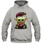 Baby Yoda Hug Louisiana Monroe Warhawks The Mandalorian Hoodie