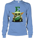Baby Yoda Hug Eastern Michigan Eagles The Mandalorian Long Sleeve T-Shirt