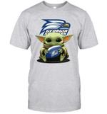 Baby Yoda Hug Georgia Southern Eagles The Mandalorian T-Shirt